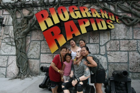 All wet after riding RioGrande Rapids at Enchanted Kingdom