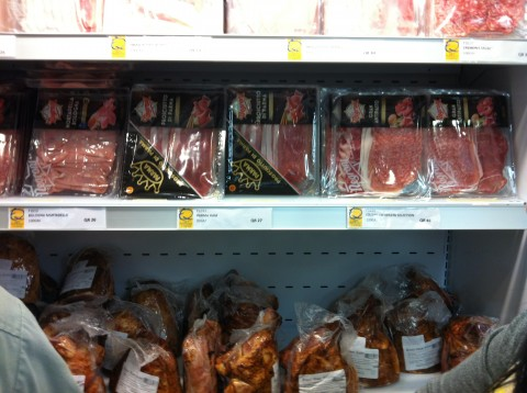 Honey Roasted Ham Shank, Parmaham, Mortadela, Prosciutto