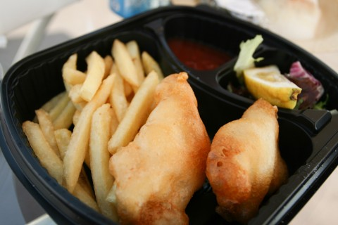 Dana Club's Tempura Fish and Chips