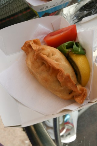 Doha Sheraton's South American Chicken Empanada